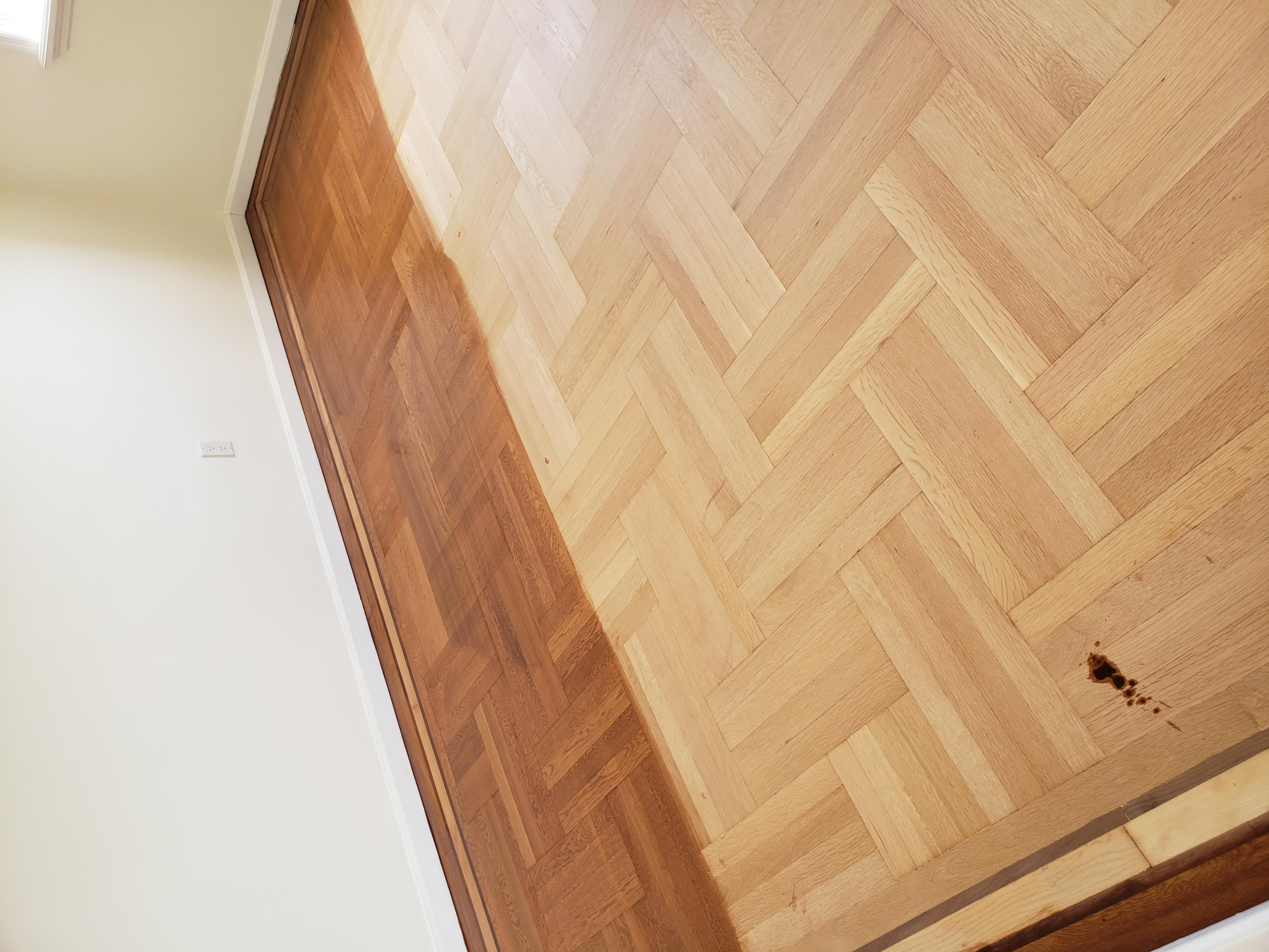 Refinish and installation of wood floor