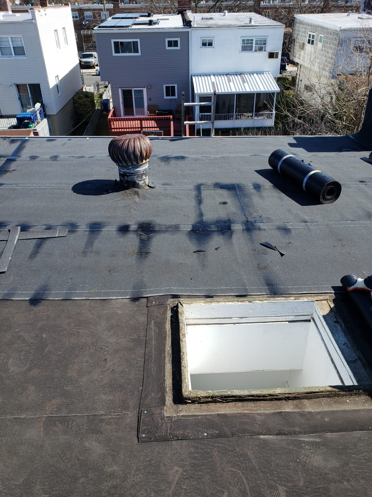 Installing flat roof